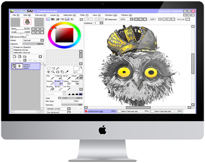 paint tools sai рисунок